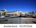 Small photo of NEW YORK;OCT13: fighter F-4 Phantom II display in intrepid sea air space museum in New York on 13 October 2016. Interpid Sea AIr Space Museum showcases the aircraft carrier the former USS Intrepid