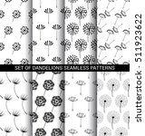 set of dandelions seamless... | Shutterstock .eps vector #511923622