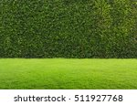 green grass and hedge | Shutterstock . vector #511927768