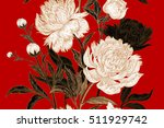 peonies seamless floral pattern.... | Shutterstock .eps vector #511929742