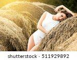 sexy woman in white bodysuit... | Shutterstock . vector #511929892