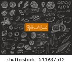 big collection of isolated nuts ... | Shutterstock .eps vector #511937512