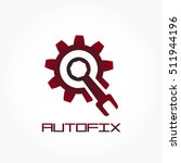 a gear and a bolt key in...   Shutterstock .eps vector #511944196