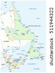 map of the four canada... | Shutterstock .eps vector #511944322