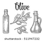bottle glass of olive oil with... | Shutterstock .eps vector #511947232