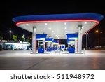 the lighting blurred in gas... | Shutterstock . vector #511948972
