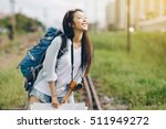 asia woman traveler travel... | Shutterstock . vector #511949272