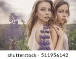 beautiful brunette fit slim... | Shutterstock . vector #511956142