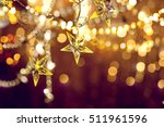christmas and new year glowing... | Shutterstock . vector #511961596