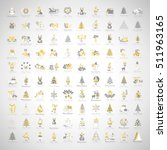 christmas icons set  isolated... | Shutterstock .eps vector #511963165