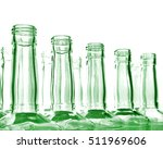 Glass Bottles On White...