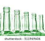Glass Bottles On White...