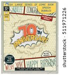 70 th anniversary. happy... | Shutterstock .eps vector #511971226