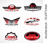 red and black car wings logo... | Shutterstock .eps vector #511971466