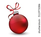 christmas ornament with red... | Shutterstock .eps vector #511973386