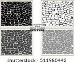 set of cobblestone paving...   Shutterstock .eps vector #511980442