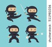 Set Of Ninja Characters Showin...