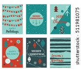 vector set cards with christmas ... | Shutterstock .eps vector #511981075