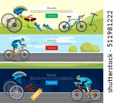 bicycle riding banner... | Shutterstock .eps vector #511981222