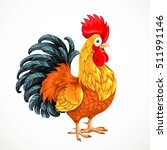 cute vector cartoon rooster ... | Shutterstock . vector #511991146