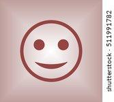 smile icon. flat design.   Shutterstock .eps vector #511991782