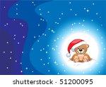 new year's bear | Shutterstock .eps vector #51200095