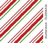 candy cane grunge stripes... | Shutterstock .eps vector #512006416