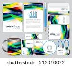 stationery design template | Shutterstock .eps vector #512010022