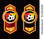 soccer ball with red and yellow ... | Shutterstock .eps vector #51201430