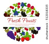 fresh fruits and berries.... | Shutterstock .eps vector #512018335