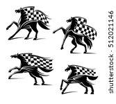 racing sport emblems. horses... | Shutterstock .eps vector #512021146