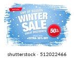 winter sale banner. vector... | Shutterstock .eps vector #512022466