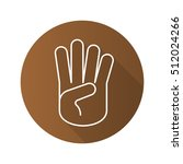 four fingers up hand gesture.... | Shutterstock .eps vector #512024266
