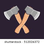 two crossed axes.