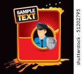 police officer red halftone... | Shutterstock .eps vector #51202795