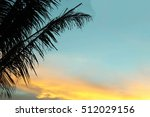 soft focus sunset from coconut... | Shutterstock . vector #512029156