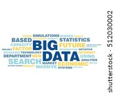 big data concept in word tag... | Shutterstock .eps vector #512030002