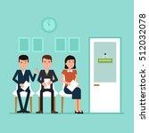 waiting for job interview....   Shutterstock .eps vector #512032078