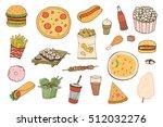 fast food vector set | Shutterstock .eps vector #512032276