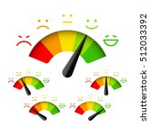 customer satisfaction meter... | Shutterstock .eps vector #512033392