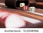 dices set to play backgammon... | Shutterstock . vector #512048986