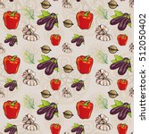 seamless vegetables pattern  ...