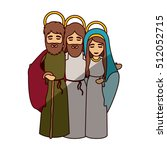 mary joseph and jesus of holy... | Shutterstock .eps vector #512052715