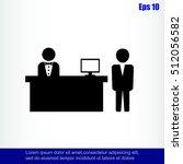 hotel reception desk icon   Shutterstock .eps vector #512056582