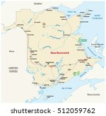 road map of the canada atlantic ... | Shutterstock .eps vector #512059762