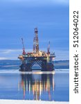 semi submersible oil rig during ... | Shutterstock . vector #512064022