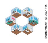 isometric office vector... | Shutterstock .eps vector #512064745