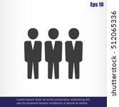 team work icon.vector... | Shutterstock .eps vector #512065336