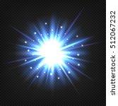 bright blue star burst. vector  ... | Shutterstock .eps vector #512067232