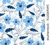 seamless floral pattern... | Shutterstock . vector #512069095